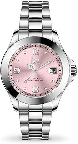 Ice-Watch - ICE steel Light pink - Silbergraue Damenuhr mit Metallarmband - 017320 (Small)
