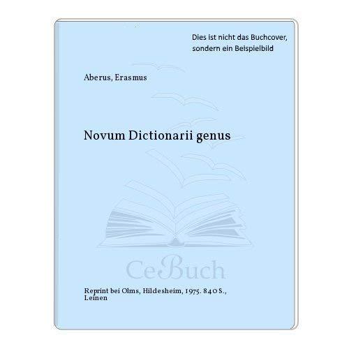 Novum Dictionarii genus,