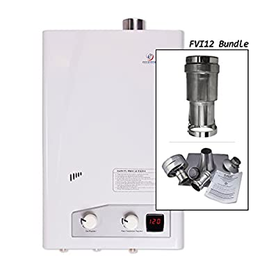 Eccotemp FVI12 Indoor 3.0 gpm Home Natural Gas Tankless Water Heater with Venting Kit
