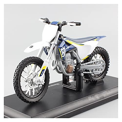 Boutique Motocicleta 1/12 para Husqvarna TE125 2016 Dirt Bike Motocross Moto Enduro Diecast Y Vehículos Todoterreno Modelo Carrera Juguetes