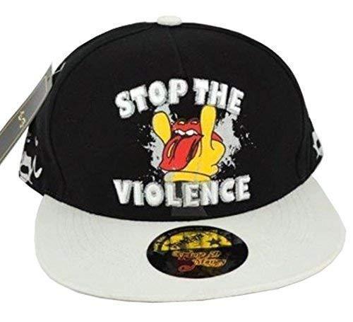 Temps Est Argent arrêter la violence Hiphop Casquette Bouchons, plat, drap-housse Peaks Baseball Chapeaux Unisexe - Multicolore - Taille unique