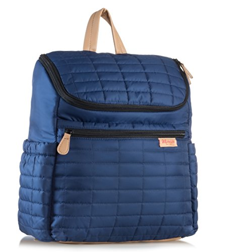 Diaper Bag Backpack with Stroller Straps. Baby Diaper Backpack For Women, Men, with Matching Changing Pad.