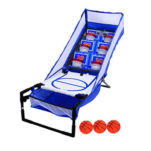 Indoor Arcade Basketball-Spiel Doppel-LED-Anzeiger Folding Elektronischer Basketballkorb, 3 Bälle und Inflation Pump - Kinder nach Hause Pro Shooting