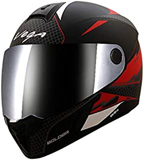 Vega Evo BT Bolder Dull Black Red Helmet- L