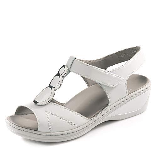 ARA 12-39055-11 Colmar Damen Sandale aus Glattleder Lederwechselfußbett Weite H, Groesse 39, weiß