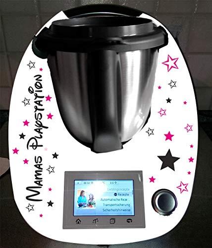 Aufkleber passend für Thermomix TM 5, TM 6, TM 31 Mamas Playstation Sterne