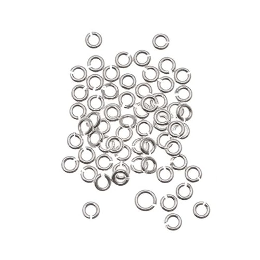 Beadaholique SS/JR25/2.5 20-Piece Sterling Open Jump Rings, 2.5mm, 22-Gauge, Silver