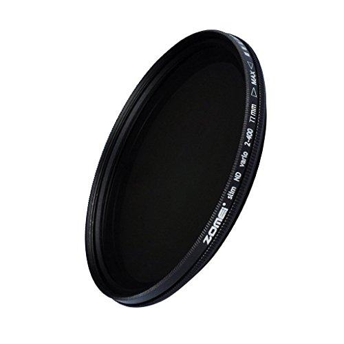 ZOMEi 77 mm ultra slim nd2-nd400 fader densità neutra variabile regolabile filtro dell' obiettivo ultra slim ND filtro in vetro ottico