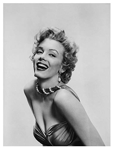 xdai Christmas Puzzles for Adults 1000 Piece -Puzzles for Kids Ages 4-8 -Thanksgiving Jigsaw Puzzles -Number Puzzles for Toddlers Marilyn Monroe with a pearl necklace -50x75cm