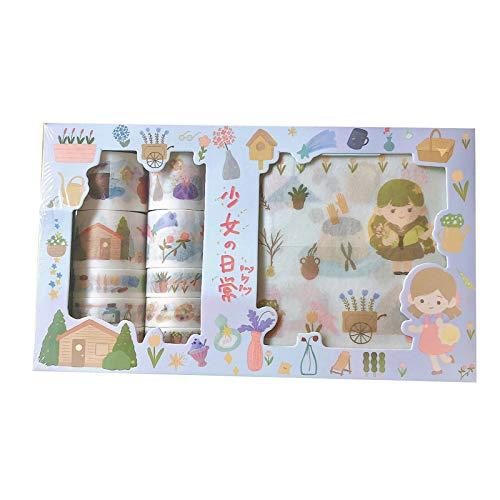 Grafts - Pegatinas de papel japonés para collage decorativo, álbumes de recortes, planificador, autoadhesivas, regalo personalizado, estanqueidad, papelería