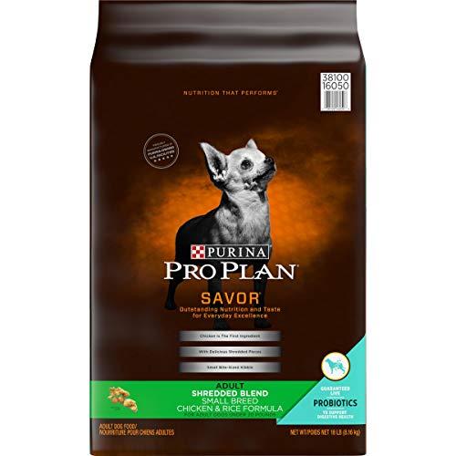 Purina Pro Plan With Probiotics Small Breed Dry Dog Food, SAVOR Shredded Blend Chicken & Rice Formula - 18 lb. Bag, PRO PLAN ShdBlnd SmlBrd