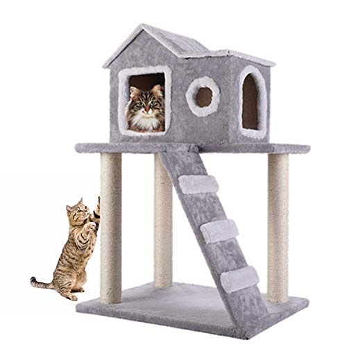 CO-Z Cat Tree Condo Tower with Ladder and Scratching Posts Kitty Trees House Bed Furniture for Kittens