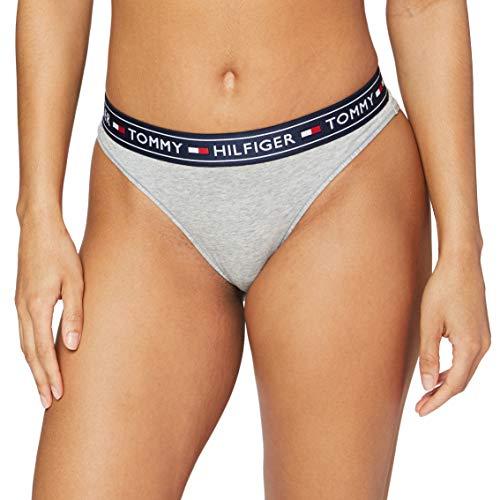 Tommy Hilfiger Damen BRAZILIAN Bikinihose, Grau (Grey Heather 004), Large
