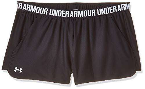 Under Armour Women's Play Up 2.0 Shorts , Black (002)/White , Medium