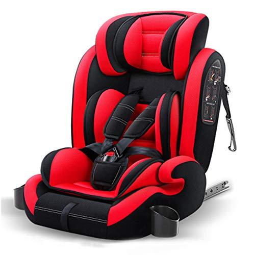 WANJIA Asiento Elevador para el Asiento del automóvil, reposacabezas Ajustable para el arnés, para niños pequeños, bebés, Grupos 1-2-3, 9-36 kg, hasta 12 años, Seguridad,C