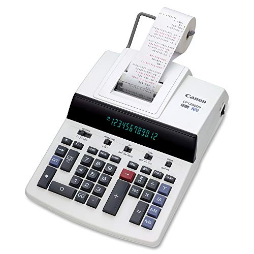 """Price comparison product image Canon Office Products CP1200DII Desktop Printing Calculator,  White,  5.8"""" x 11"""" x 17"""""""