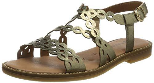 Remonte Damen D3660 Flache Sandale, Gold / 90, 44 EU