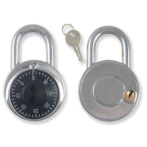 Combination padlock Lock with Single Override Control Key Ideal For locker [946KA-5] Set of 5 Candado de Combination Llave Maestra