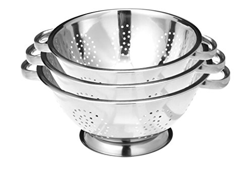 Stainless Steel Colander Strainer Set of 3
