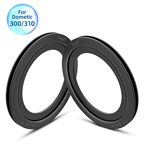 BougeRV RV Toilet Flush Ball Seal Replacement RV Accessories Flush Ball Gaskets for Dometic 300, Dometic 310- Equivalent to Part Number 385311658 (2 Pack)