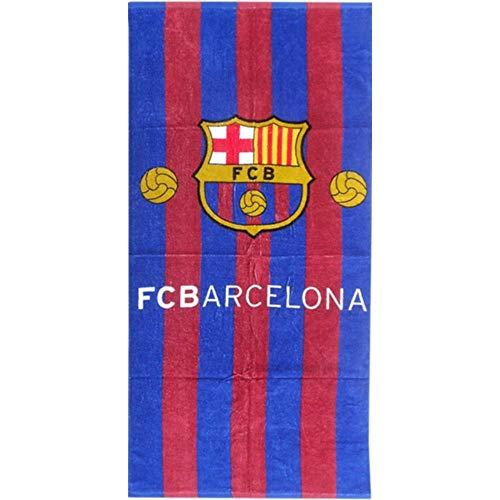NPZ - Toalla de baño del FC Barcelona con globos oficiales, 70 x 140 cm, color azul
