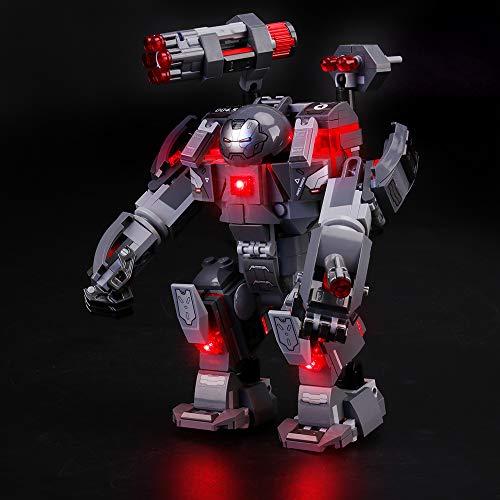 LIGHTAILING Conjunto de Luces (Super Heroes Depredador de Mquina de Guerra) Modelo de Construccin de Bloques - Kit de luz LED Compatible con Lego 76124 (NO Incluido en el Modelo)