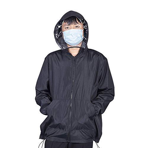 Coat Winddicht En Stofdicht Jassen Beschermende Hooded Overall Lichtgewicht Stofdicht Anti Fog Verwisselbare Coat Toga Suit Met Hoed,L