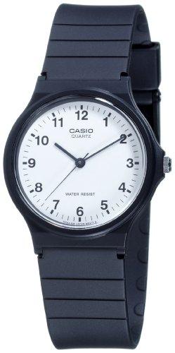Casio MQ-24-7BLLGF - Reloj con correa de plastico, color blanco / negro