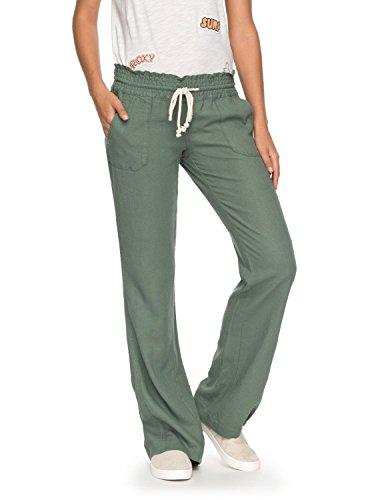 Roxy Women's Oceanside Pant, Olive, L