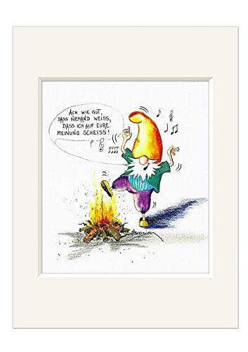 Passepartout Bild ~ Zwerge - Ach wie gut ... ~ Kunstdruck H. Brosien Druck 24x30