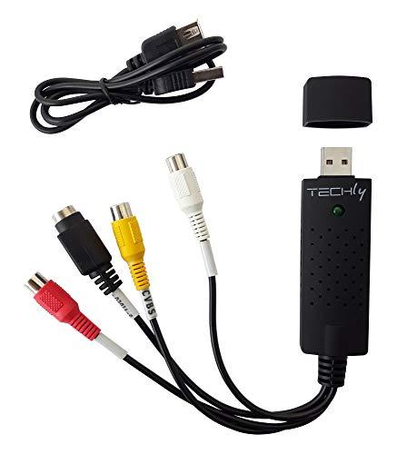 Techly 360844 Audio Video Grabber USB 2.0 Nero