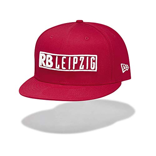 RB Leipzig New Era 9FIFTY Stencil Flat Cap, Rot Youth One Size Flat Cap, RasenBallsport Leipzig Sponsored by Red Bull Original Bekleidung & Merchandise