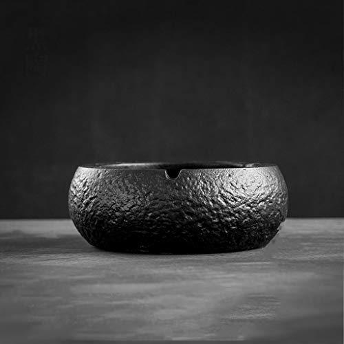 GSHWJS Cenicero Redondo de cerámica 17.5X17.5X6.5CM Cenicero (Color : A)