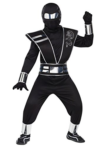 Child Silver Mirror Ninja Costume Medium