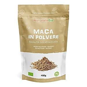 Maca Andina Ecológica en Polvo 400g. Organic Maca Powder Gelatinized. 100% Peruana, Bio y Pura, viene de raíz de Maca Organica - Gelatinizada - NaturaleBio