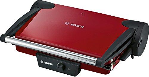 Bosch TFB4402V Kontaktgrill (1800 W, 3 Grillpositionen, stufenlos regulierbarer Thermostat), rot / anthrazit