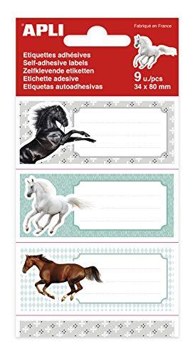 APLI 18443 - Etichette scolastiche Cavalli 9 u.