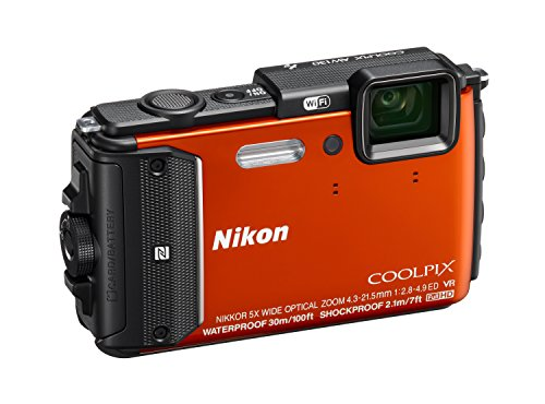 Nikon Coolpix AW130 Shock & Waterproof GPS Digital Camera (Orange) - International Version
