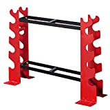 FISUP Dumbbell Rack Stand, 5 Tire/450 LBS Capacity Dumbbells Holders Weight Training Workout Racks Dumbbell Rack Stand Only, Home Gym Weight Rack for Dumbbells 22.04 x 9.05 x 28.3 inches