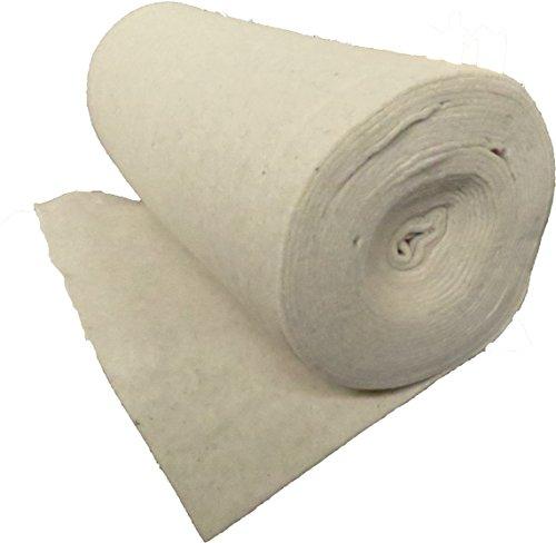 Nadelfilz aus 100 % Schafschurwolle 500g/m², 1,00 m breit 2,50 m lang, ca. 5 mm dick, 2,5 m², (EUR 8,76/m²), Naturfaser, 100 % biologisch abbaubar, waschbar, Öko-Tex Standard 100, Produktklasse 1