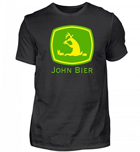 John Bier Traktor Bier Fun Shirt Rentier mit Alkohol Saufshirt - Herren Shirt