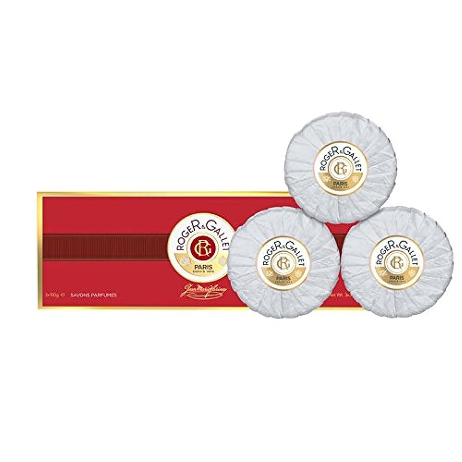肖像画ミシン目ペッカディロロジェガレ ジャンマリファリナ 香水石鹸 3個セット 100g×3 ROGER&GALLET JEAN MARIE FARINA SOAP [並行輸入品]