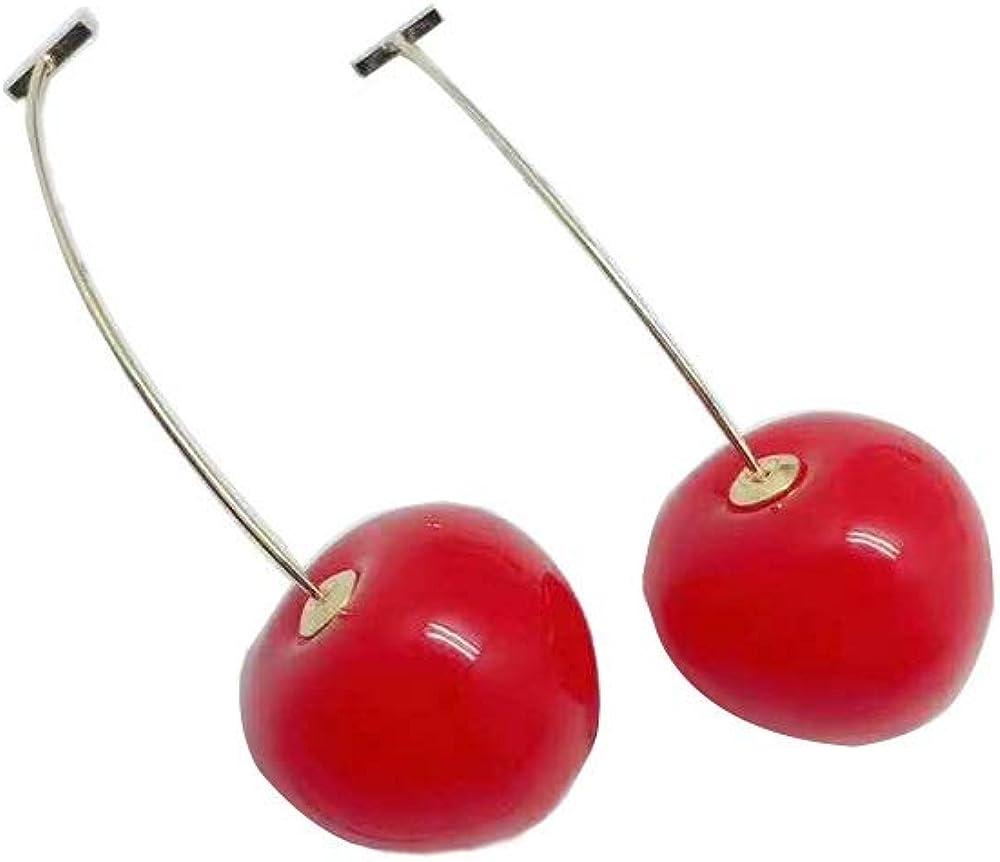 3D Cherry Dangle Earrings vivid Fruit Sweet Jewelry for Women Girls