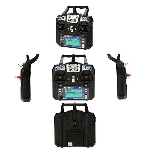GoolRC Flysky FS i6 AFHDS 2A 2.4GHz 6CH System Fernsteuerung für RC Hubschrauber Segelflugzeug mit FS iA6 Empfänger