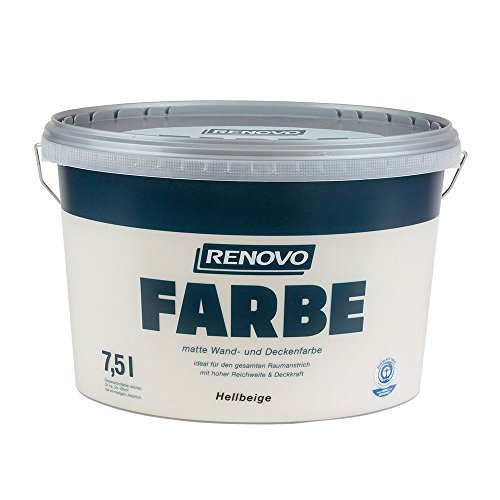 Farbe Hellbeige 8528 7,5 L Wand- und Deckenfarbe RENOVO