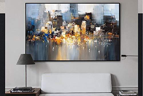 baodanla Geen lijst olieverfschilderijen van de moderne kunst abstract olieverfschilderij, zonder lijst, geschikt voor slaapkamerdecoratie