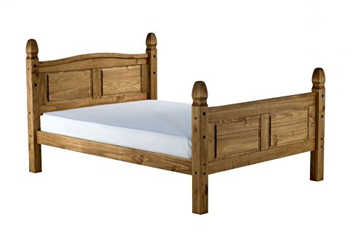 Mercers Furniture Trade Corona King Size 5'0' High End Bed Frame Light Fiesta Wax