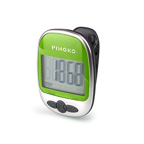 PINGKO Outdoor Multi-Function Portable Sport Pedometer Step/Distance/Calories/ Counter - Green