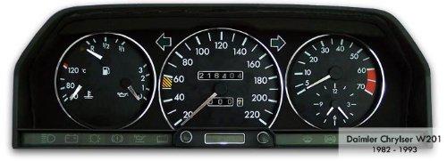 Tachodekorset Chrom für Benz C-Klasse W201 (1982 - 1993)