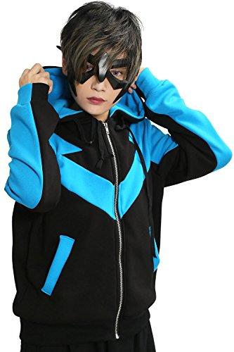 Xcoser Nightwing Hoodie Jacket Sweatshirt Costume for Halloween Medium